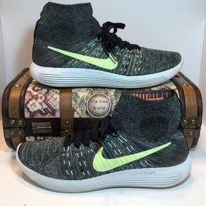 Nike Lunarepic Flyknit Running Shoes US Black Gree